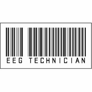 Técnico del código de barras EEG Esculturas Fotográficas