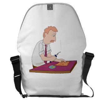 Técnico del ordenador bolsas de mensajeria