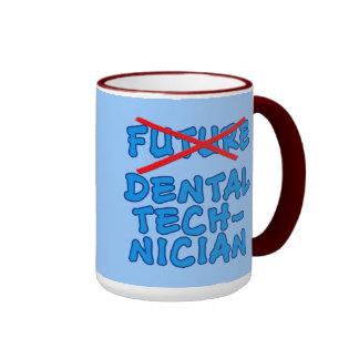 Técnico dental no más futuro taza de dos colores