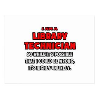 Técnico divertido de la biblioteca. Altamente Postal