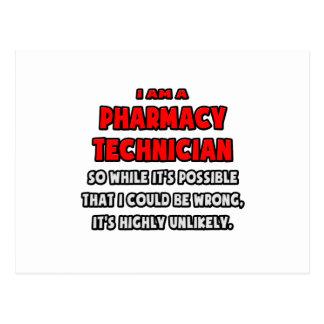 Técnico divertido de la farmacia. Altamente Postal