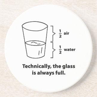 Técnico, el vidrio es siempre lleno posavasos de arenisca