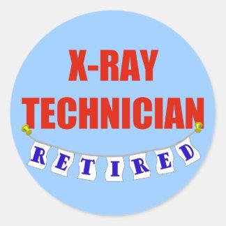 Técnico jubilado de la radiografía pegatina redonda