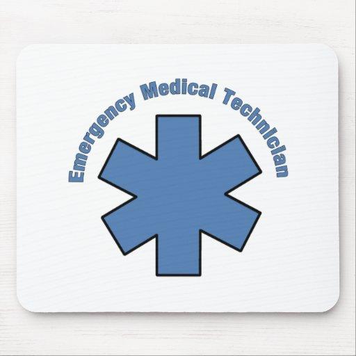 Técnico médico de la emergencia alfombrilla de raton