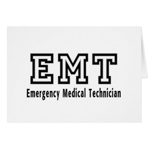 Técnico médico de la emergencia tarjeta pequeña