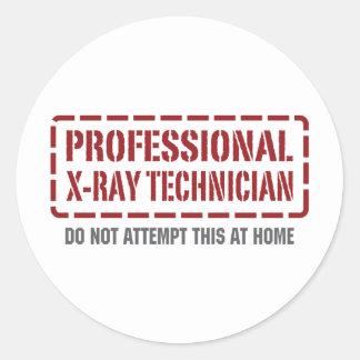 Técnico profesional de la radiografía etiqueta redonda