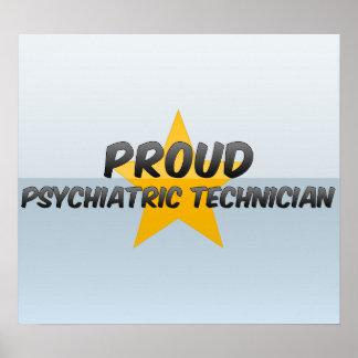 Técnico psiquiátrico orgulloso póster