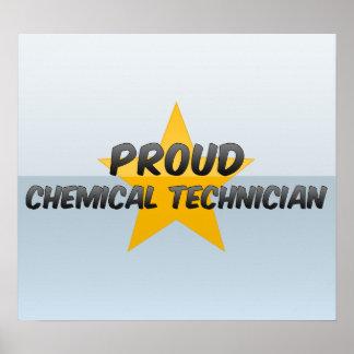 Técnico químico orgulloso poster