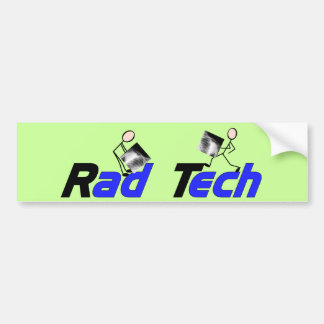 """Técnico """"regalos de la radiología de la tecnología etiqueta de parachoque"""