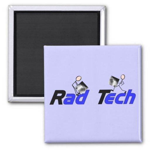 """Técnico """"regalos de la radiología de la tecnología imán cuadrado"""