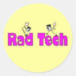 """Técnico """"regalos de la radiología de la tecnología pegatina redonda"""