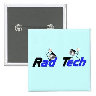 """Técnico """"regalos de la radiología de la tecnología pin cuadrada 5 cm"""