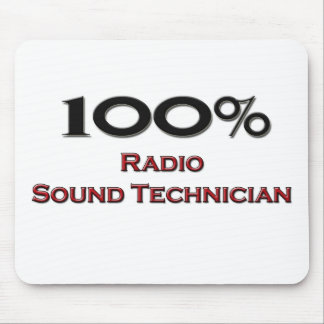 Técnico sano de radio del 100 por ciento tapete de ratones