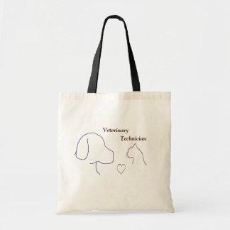 Técnico veterinario bolsa tela barata