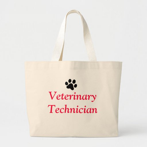 Técnico veterinario con la impresión negra de la p bolsa de mano