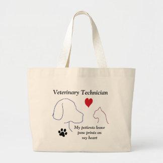 Técnico veterinario - la pata imprime en mi bolsas