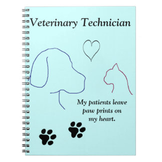 Técnico veterinario - la pata imprime en mi corazó libreta
