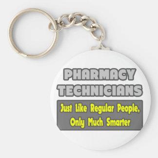 Técnicos de la farmacia. Más elegante Llavero Redondo Tipo Pin