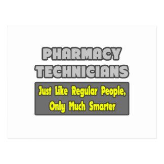 Técnicos de la farmacia. Más elegante Tarjetas Postales