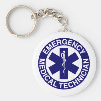 TÉCNICOS MÉDICOS EMT DE LA EMERGENCIA LLAVERO REDONDO TIPO PIN
