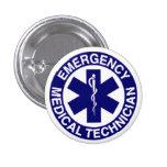 TÉCNICOS MÉDICOS EMT DE LA EMERGENCIA PIN REDONDO 2,5 CM