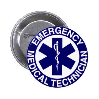 TÉCNICOS MÉDICOS EMT DE LA EMERGENCIA PIN REDONDO DE 2 PULGADAS