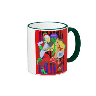 Tecno del tango taza de dos colores
