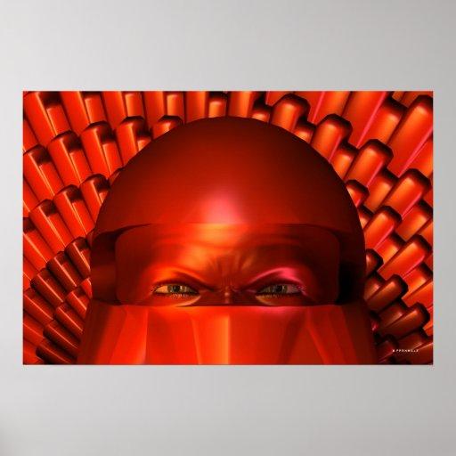 Tecnología avanzada Ninja Posters