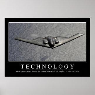 Tecnología: Cita inspirada Póster