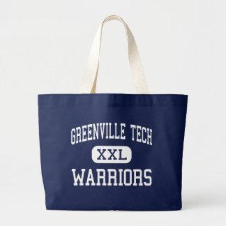 Tecnología de Greenville - guerreros - carta - Gre Bolsa Tela Grande