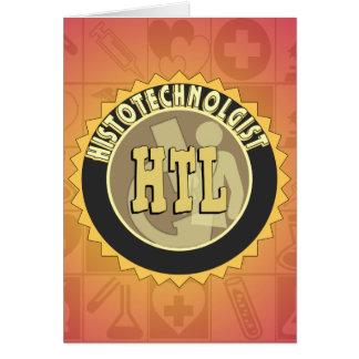 TECNOLOGÍA DE LA HISTOLOGÍA DE LA INSIGNIA TARJETA DE FELICITACIÓN