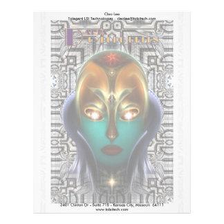 Tecnología de la reina del Cyborg de Daria Membrete A Diseño