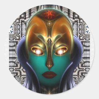 Tecnología de la reina del Cyborg de Daria Pegatina Redonda