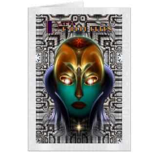 Tecnología de la reina del Cyborg de Daria Tarjeta De Felicitación