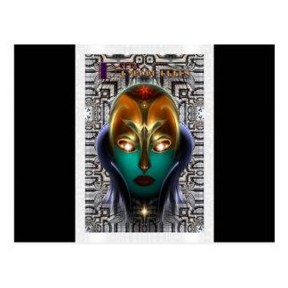 Tecnología de la reina del Cyborg de Daria Tarjeta Postal