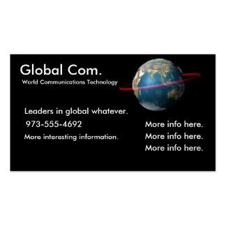 Tecnología de las comunicaciones del mundo tarjetas personales
