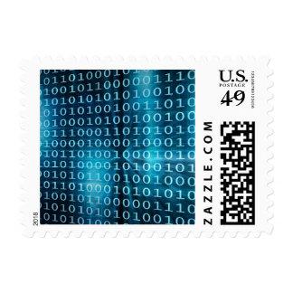 Tecnología de los datos virtuales con la sello postal