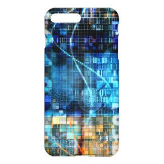 Tecnología del código binario del fondo de la funda para iPhone 7 plus