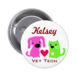 Tecnología del gato del perro y del veterinario de pins