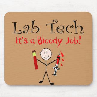 """Tecnología del laboratorio """"es un trabajo sangrien tapete de raton"""