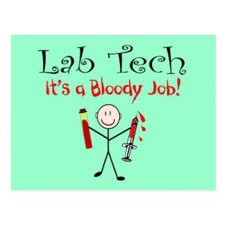 """Tecnología del laboratorio """"es un trabajo postal"""