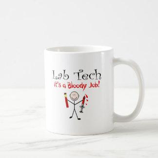 """Tecnología del laboratorio """"es un trabajo taza de café"""