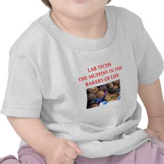 tecnología del laboratorio camisetas
