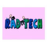 Tecnología del Rad con diseño de la gente y de las Tarjeta Postal