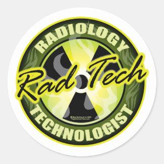 Tecnología del Rad Pegatina Redonda