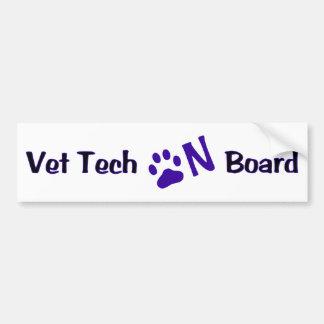 Tecnología del veterinario a bordo #222 pegatina para auto