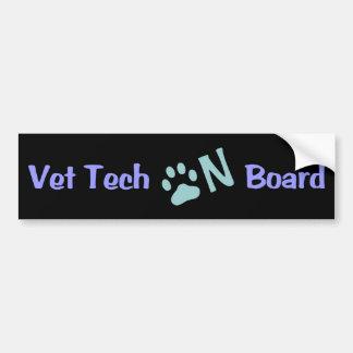 Tecnología del veterinario a bordo #333 pegatina para auto