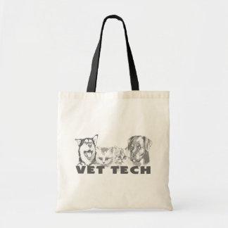 Tecnología del veterinario bolsa lienzo