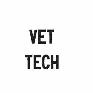 Tecnología del veterinario camiseta polo bordada