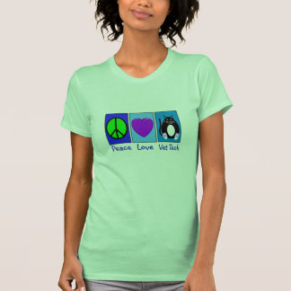Tecnología del veterinario del amor de la paz camiseta